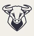 bull mascot icon vector image vector image