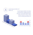 business finance arrow with charts and infographic vector image vector image