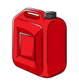 car plastic canister with gasoline vector image