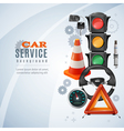 Car Service Background vector image vector image