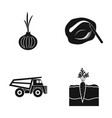 cargo makeup and other web icon in black style vector image vector image