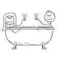 cartoon man and woman relaxing together in vector image vector image