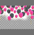 celebration background balloons isolated color vector image vector image