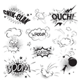 Comic black speech bubbles in pop art style vector image vector image