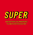 comic book superhero style font vector image vector image