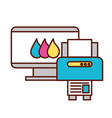 computer and printer devices graphic design tool vector image