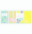 design banner and card for summer season abstract vector image vector image