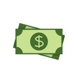dollar banknote flat icon vector image vector image