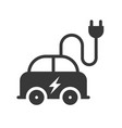 electric car icon green energy concept vector image vector image