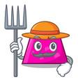 farmer trapezoid character cartoon style vector image vector image