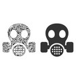 gas mask composition of service tools vector image vector image