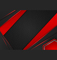 geometric red and black color abstract background vector image