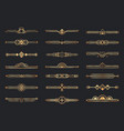 Golden art deco dividers decorative geometric