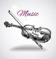 hand drawn violin vector image