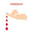 hemophlia icon vector image