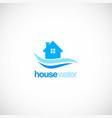 house water supply company logo vector image