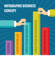 Human hands and business graphic concept vector image vector image