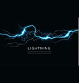 isolated lightning horizontal power and energy vector image
