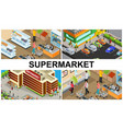 isometric supermarket colorful composition vector image