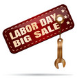 labor day big sale vector image vector image