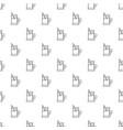 metal glass cup tea pattern seamless vector image