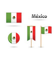 mexican flags vector image vector image