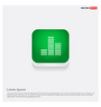 music sound wave icon green web button vector image