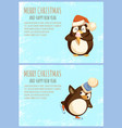 penguin with ice cream and on skates christmas vector image vector image