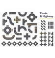 pieces graphic roads and highways vector image