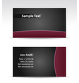 purple black business card vector image vector image