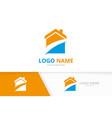 real estate logo construction architecture vector image