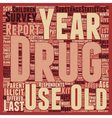 Recent Drug Abuse Statistics text background vector image vector image