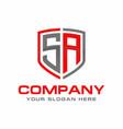 sa initial logo design vector image vector image