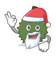 santa durian mascot cartoon style vector image