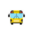 school bus flat icon student transport vector image