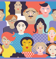 seamless background with people vector image vector image