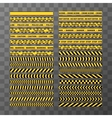 set different seamless yellow and black caution vector image