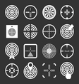 Set icons of target and sights vector image vector image