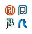 set symbol for business logo design template vector image vector image