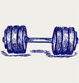 Sketch dumbbell weight vector image