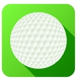 Sport icon with golf ball in flat style vector image