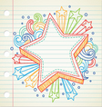 star doodle vector image vector image
