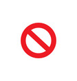 stop sign icon in flat style for apps ui websites vector image