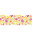 summer flowers seamless repeat border vector image vector image
