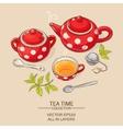 tea set red vector image vector image
