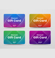 template gift card with color gradient and vector image