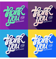 thank you for watching typography set of editable vector image vector image