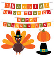 thanksgiving banners and design elements set vector image vector image