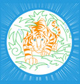 tiger icon in nature icon vector image vector image