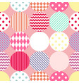 Tile patchwork pattern with polka dots